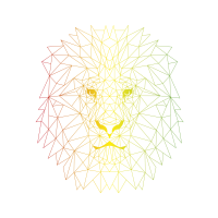 Polygon Reggae Lion
