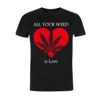 Weed Is Love Schwarz M
